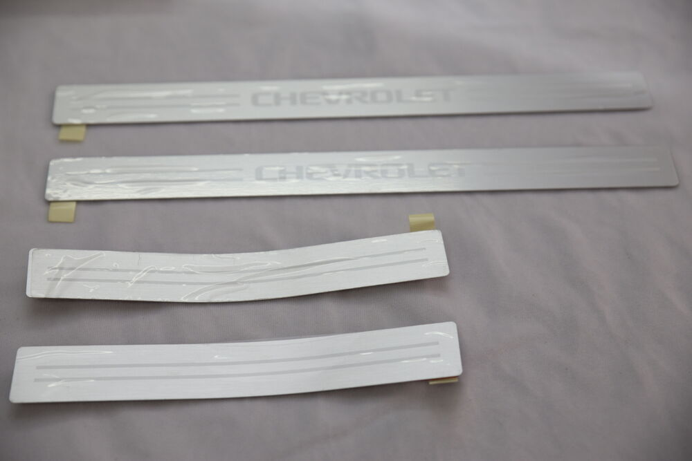 door sill step scuff plate trim 4pcs for chevrolet chevy holden cruze 2011 2015 ebay. Black Bedroom Furniture Sets. Home Design Ideas