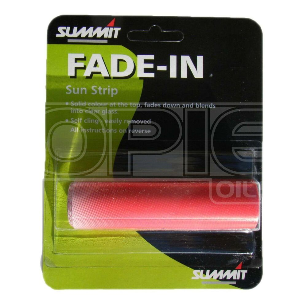 windscreen sun strip visor red ebay. Black Bedroom Furniture Sets. Home Design Ideas