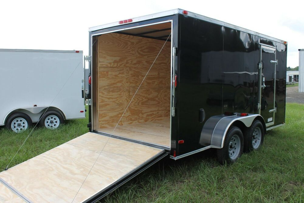 6x12 Enclosed Cargo Trailer Tandem Dual V Nose Utility
