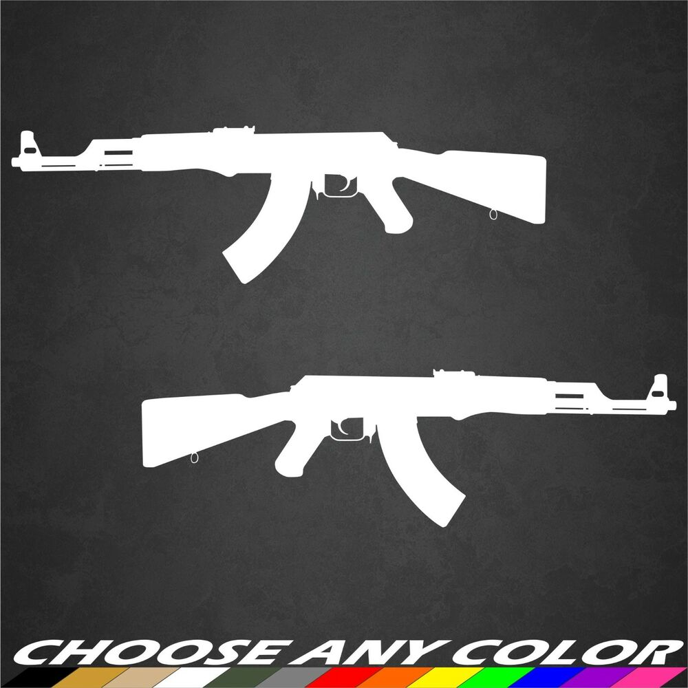 Truck Stickers For Back Window >> 2 AK-47 Stickers Decal Gun Rights NRA Gun 2nd Amendment ...
