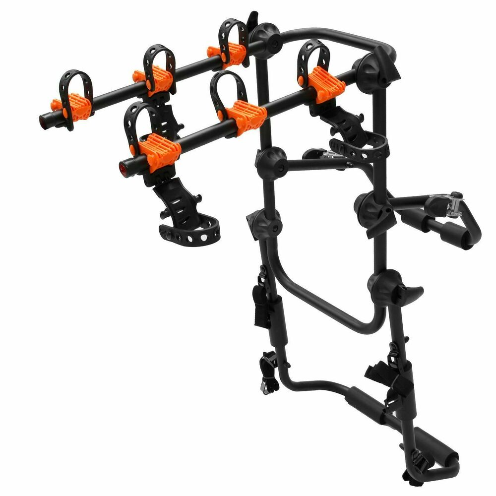 Universal 3 bikes bicycle rear car van suv rack carrier ebay for Is a bicycle considered a motor vehicle