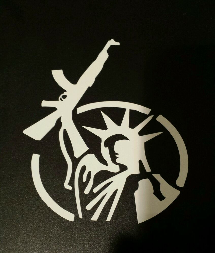 Vinyl Window Decals : Merica patriotic gun truck car vinyl window decals