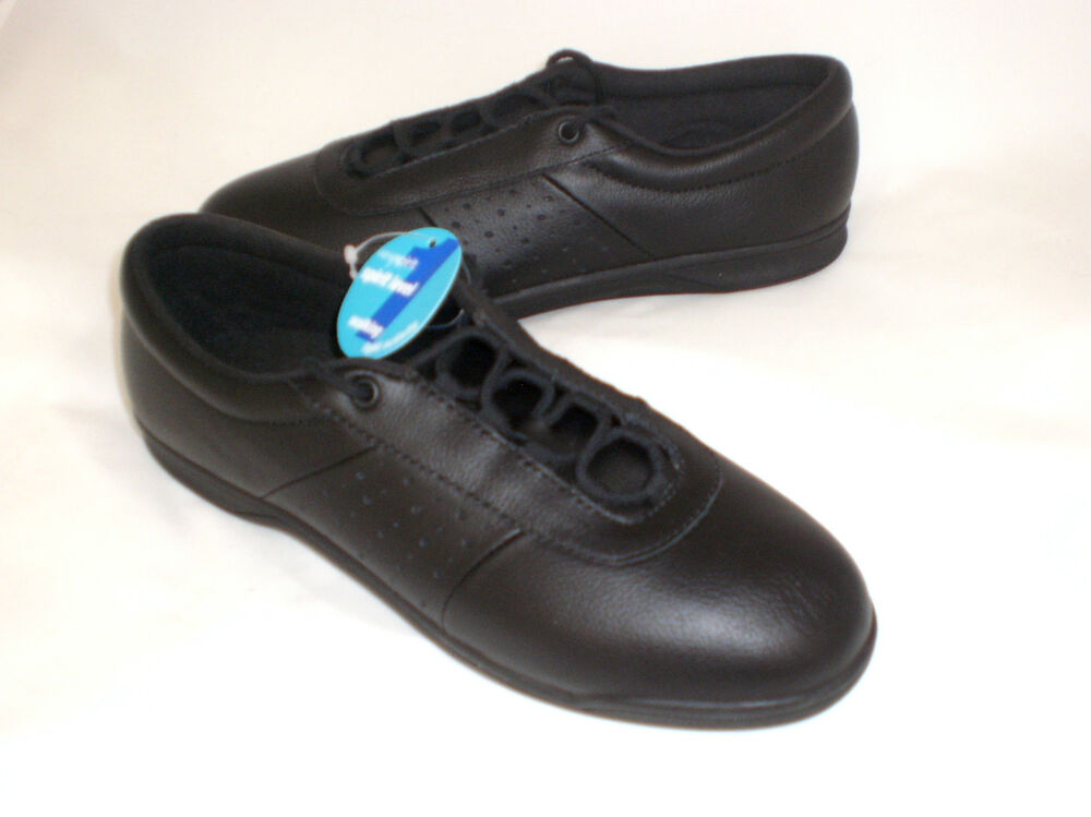 easy spirit allyoop athletic shoes black leather 9 md new ebay