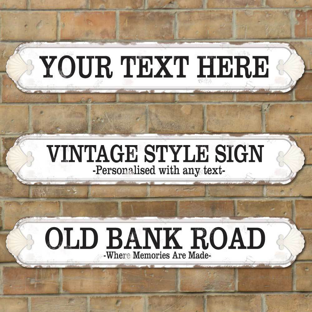 Ebay Co Uk: Personalised Old Fashioned Street Road Sign, Vintage Shell