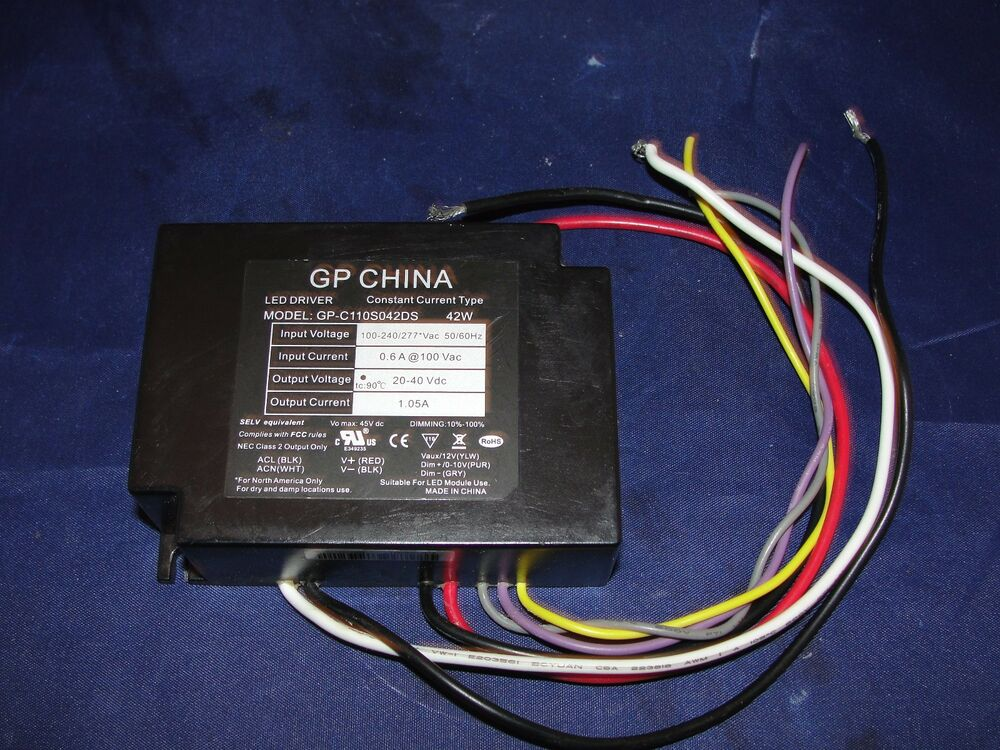 gp china led driver power supply gp c110s042ds 42w ebay. Black Bedroom Furniture Sets. Home Design Ideas