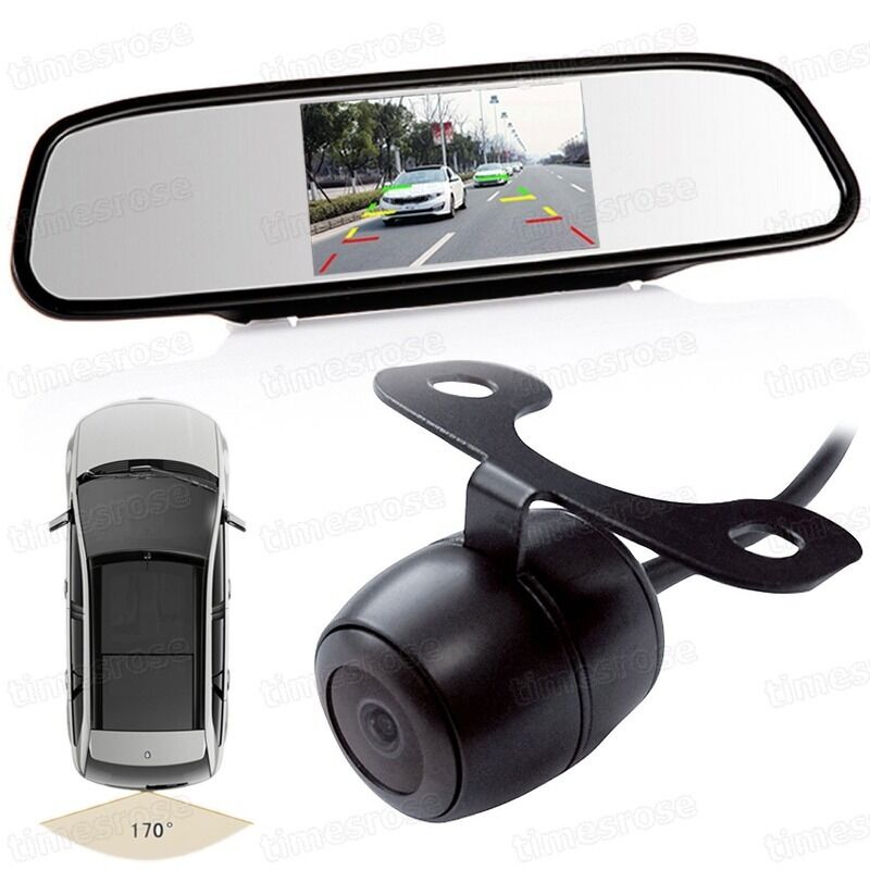 4 3 Quot Tft Car Lcd Screen Rear Monitor View Rearview Mirror