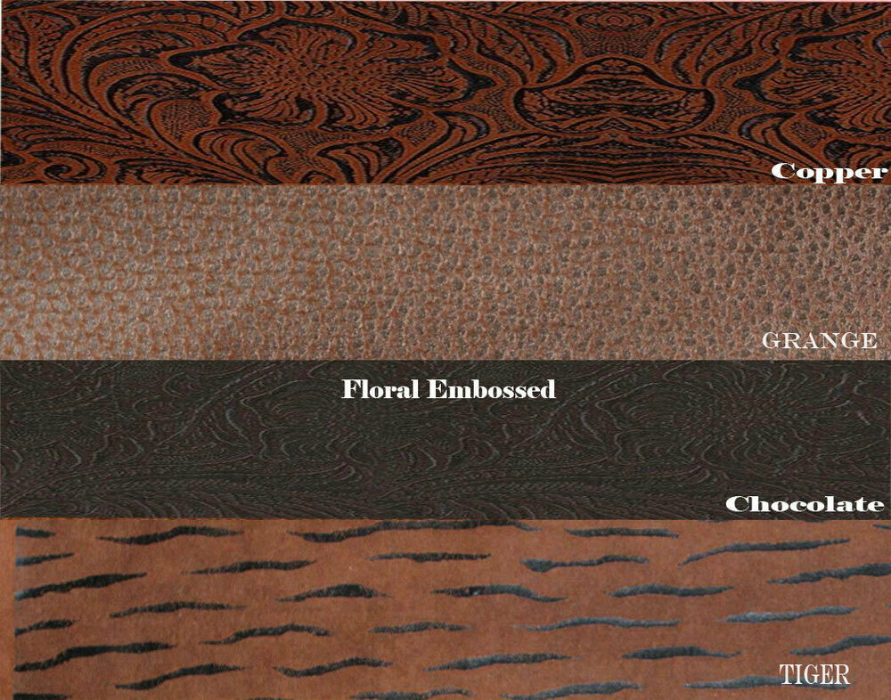 Faux leather vinyl fabric embossed tooled vinyl 54 wide for The fabric of