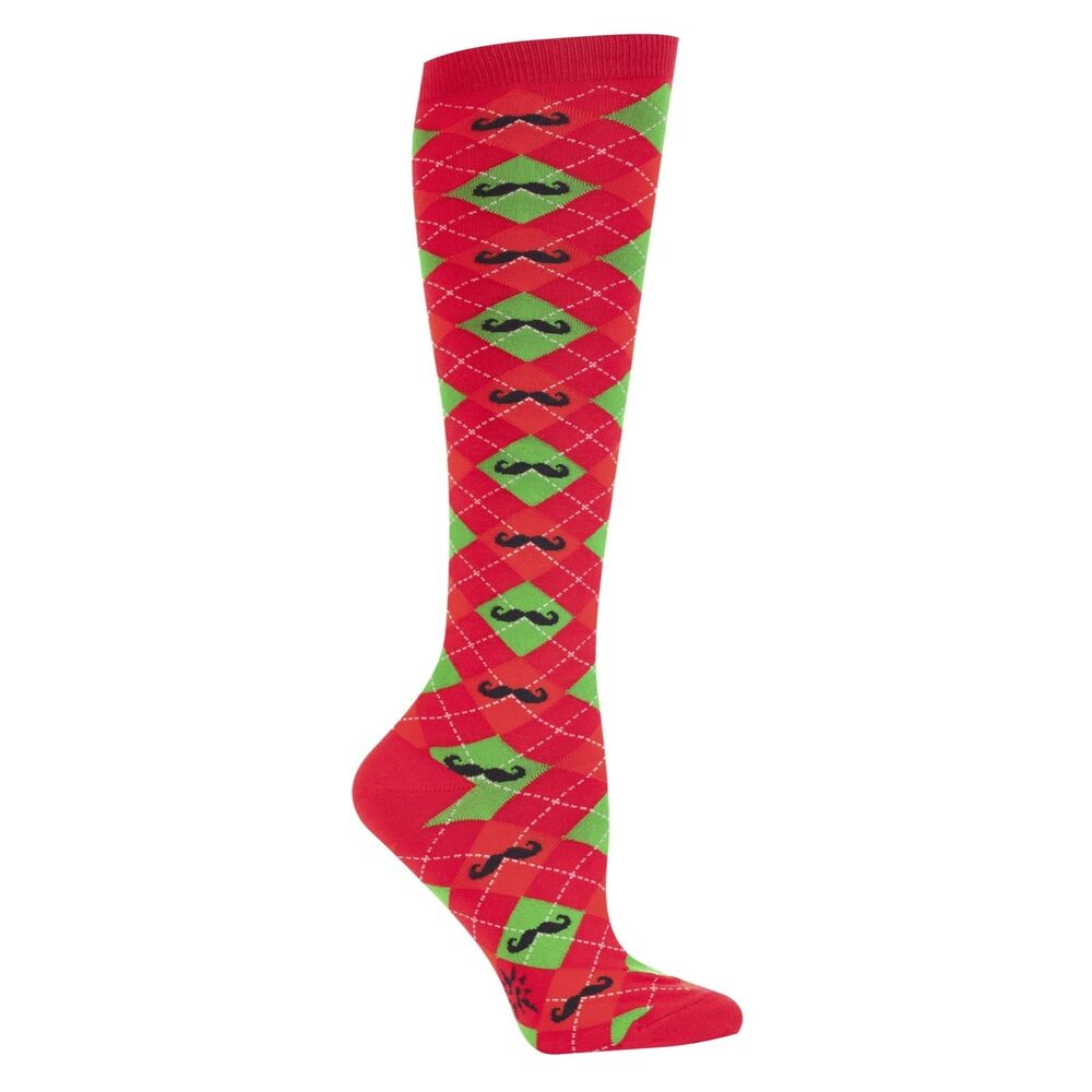 New Sock it to Me Knee High Socks Funky Christmas Holiday ...