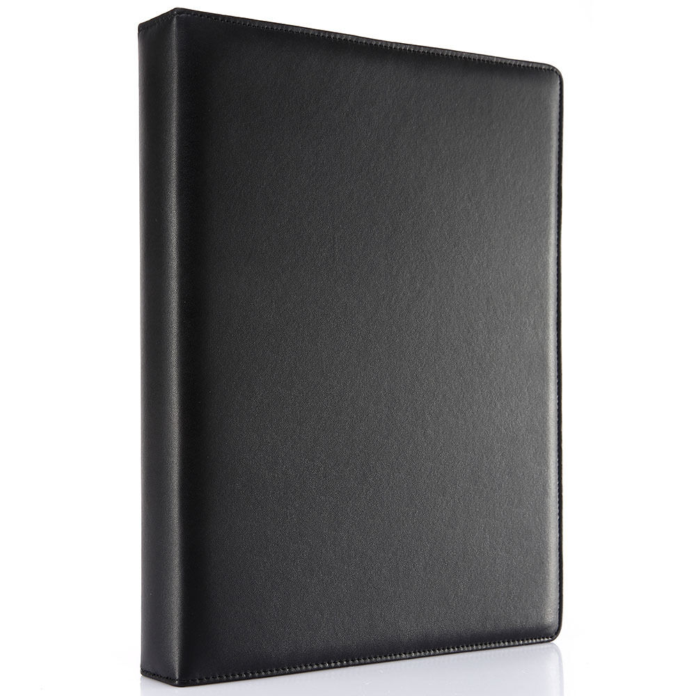 Black A4 Leather Journal 4 Ring Binders Business Spiral