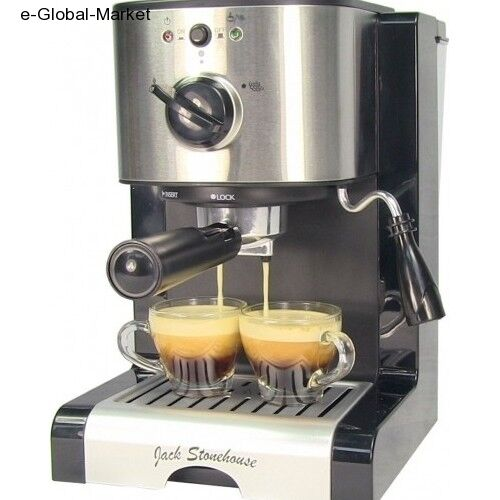 espresso machine 15 bar 2 cup cappuccino maker mug coffee cafe cups steam latte ebay. Black Bedroom Furniture Sets. Home Design Ideas