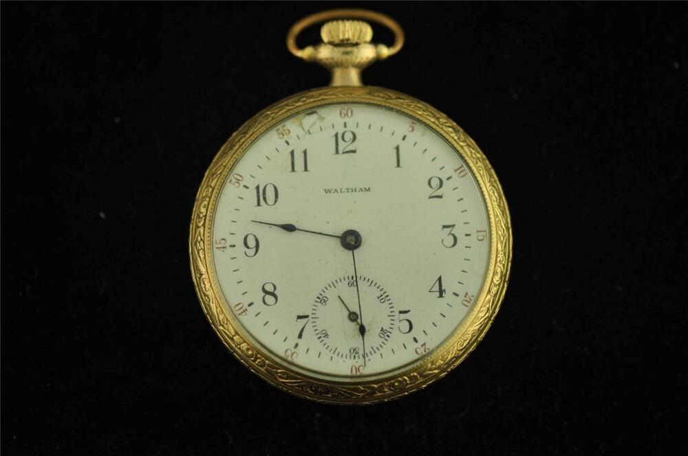 VINTAGE 16 SIZE WALTHAM POCKET WATCH GRADE 620 FROM 1902 ...