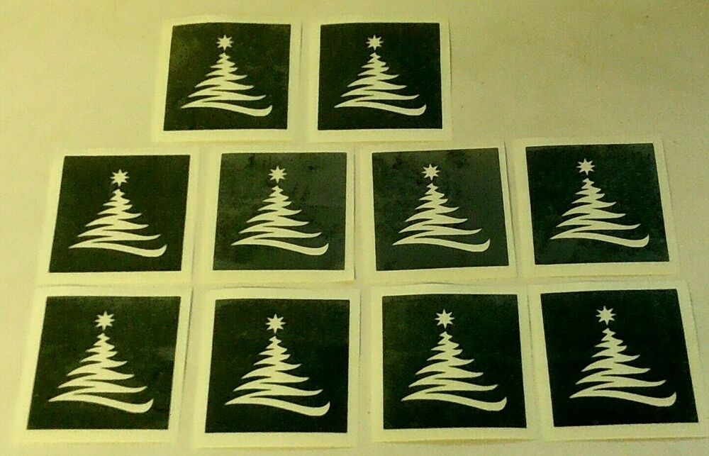 400 Christmas Tree Stencils For Etching On Glass