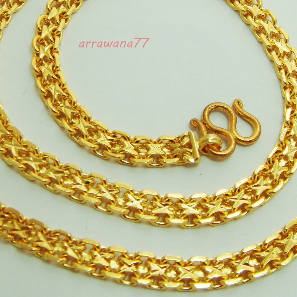 Thai Gold Necklace: 22K 23K 24K THAI BAHT YELLOW GOLD GP Filled NECKLACE 26