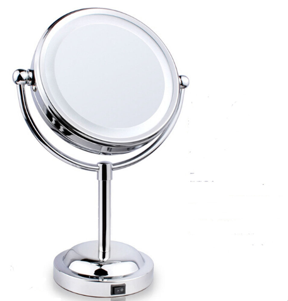 3x beauty makeup mirror with light sided magnifying cosmetic lighted. Black Bedroom Furniture Sets. Home Design Ideas
