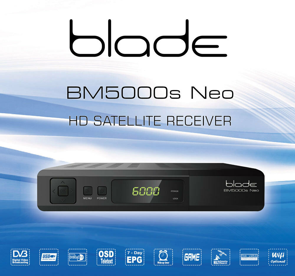 blade media bm5000s neo hd satellite receiver bm5000 ebay. Black Bedroom Furniture Sets. Home Design Ideas