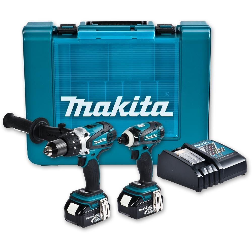 makita 2 piece 18v 4 0ah li on combo kit with hammer drill and impact driver ebay. Black Bedroom Furniture Sets. Home Design Ideas