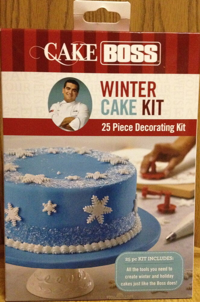 Cake Decor Kit : Cake Boss Winter Cake 25 Piece Decorating Kit NIB eBay
