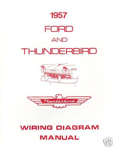 1957 ford thunderbird wiring diagram manual