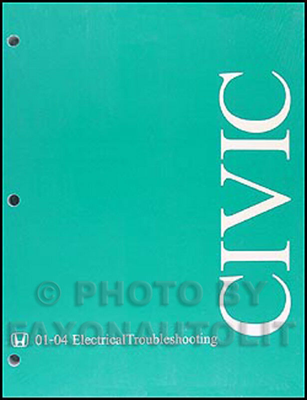 2004 Honda Civic Electrical Wiring Diagram Manual Troubleshooting Original Oem