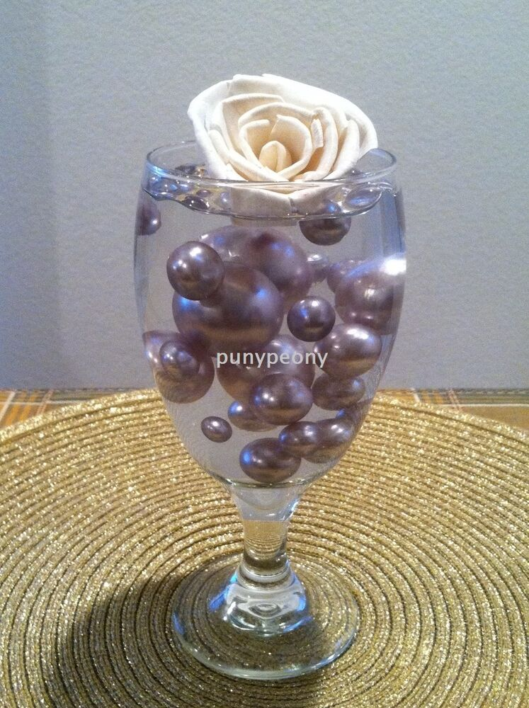 Elegant Centerpiece Vases : Vase fillers elegant silver jumbo pearls mix size for