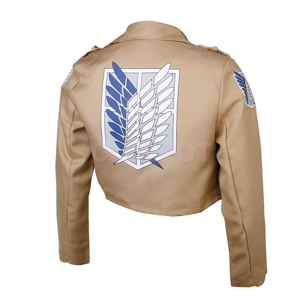 attack on titan jacket coat shingeki no kyojin japan anime. Black Bedroom Furniture Sets. Home Design Ideas