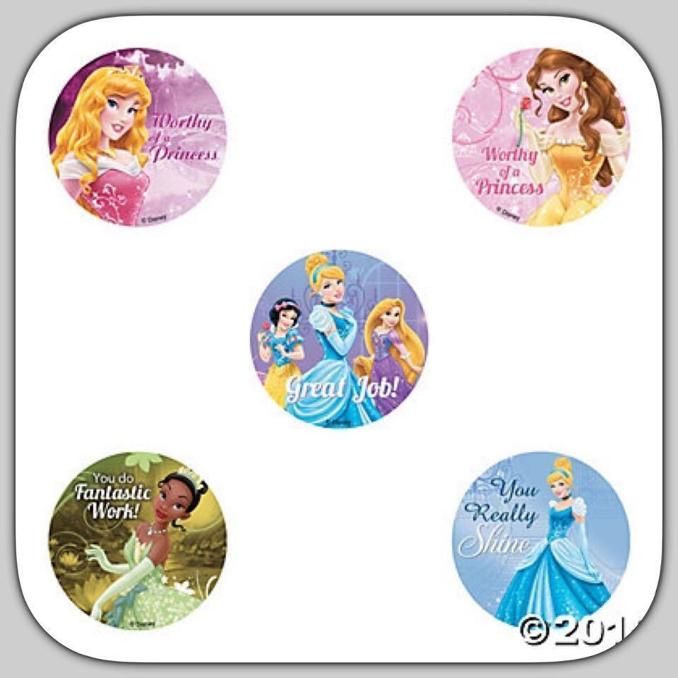 Details about princess stickers x 5 motivational disney princess teacher rewards merit