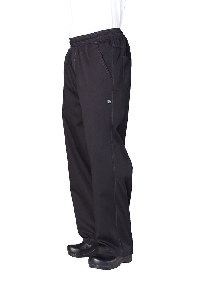 Chef Works Modern Lightweight Mens Baggy Chef Pants 2 Side