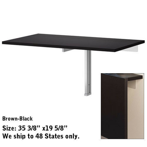 Wall mounted drop leaf folding dining table desk ikea - Wall mounted flip up table ...