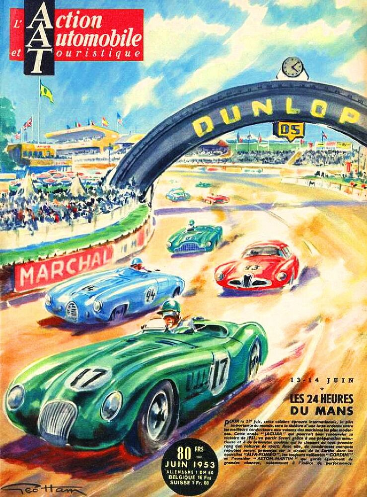 Old Race Car Posters