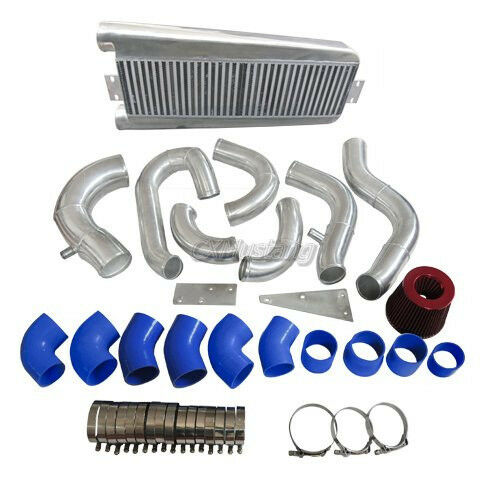 Vortech V3 Supercharger Intercooler: Intercooler Kit + Air Intake Kit For 87-93 Fox Body 5.0