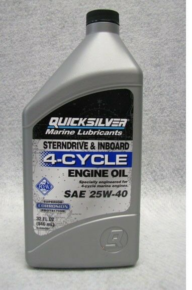 Oem Mercury Quicksilver Mercruiser Marine Engine Sae 25w