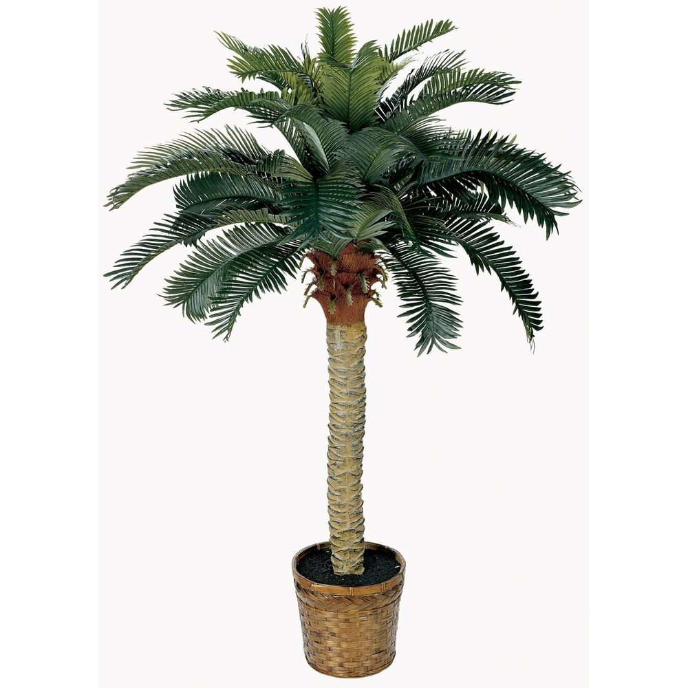 Artificial Tree Home Decor: Nearly Natural 4 Ft Sago Palm Tree
