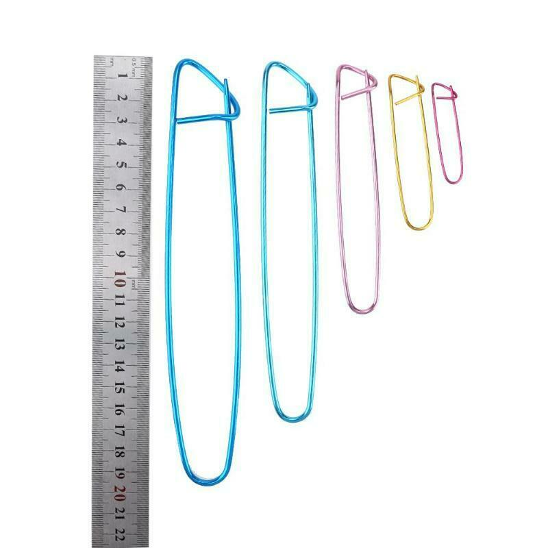 Stitch holders large aluminium locking for crochet knitting. 9cm, 11cm & ...