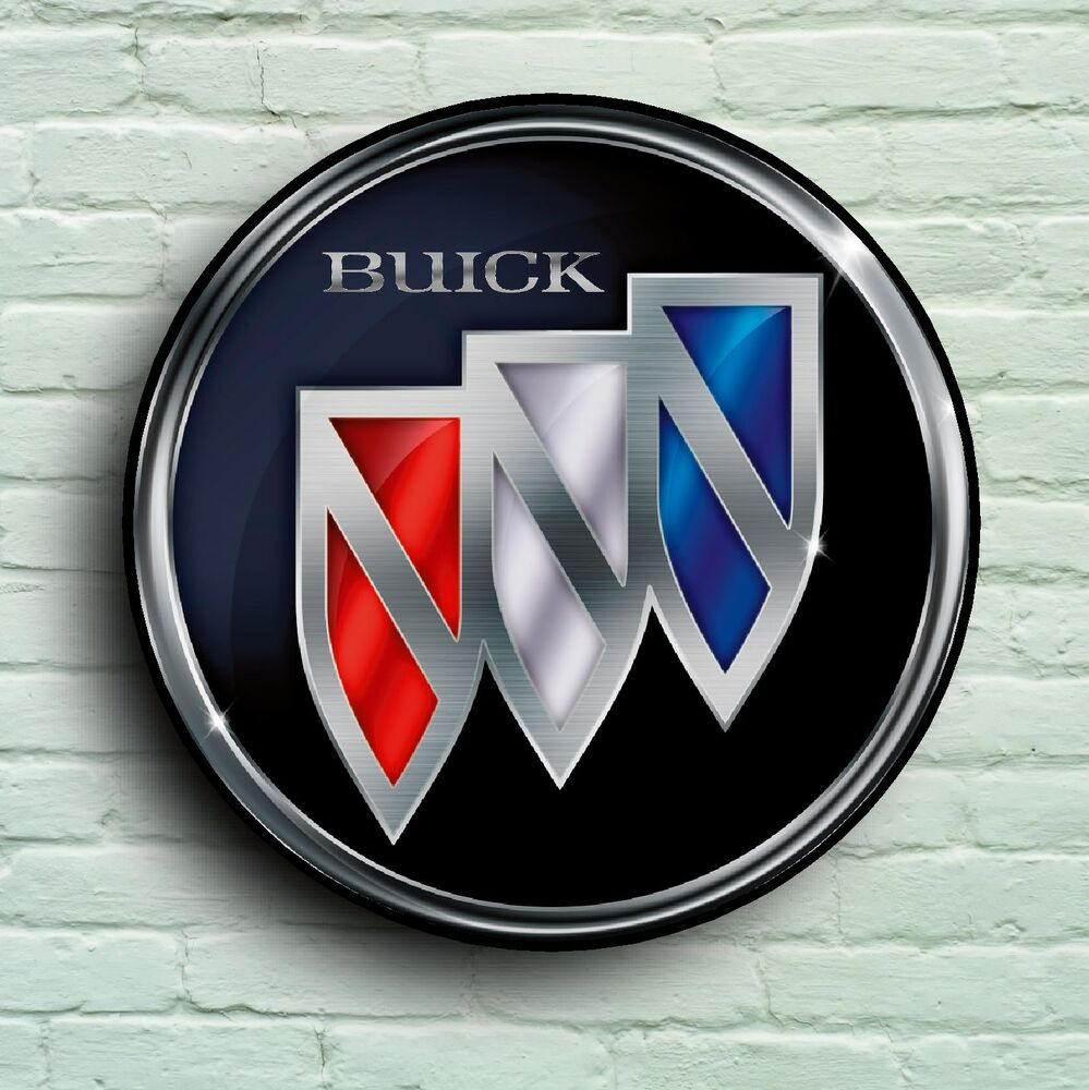 BUICK LARGE 2FT GARAGE WALL SIGN BADGE CLASSIC CAR ENCLAVE