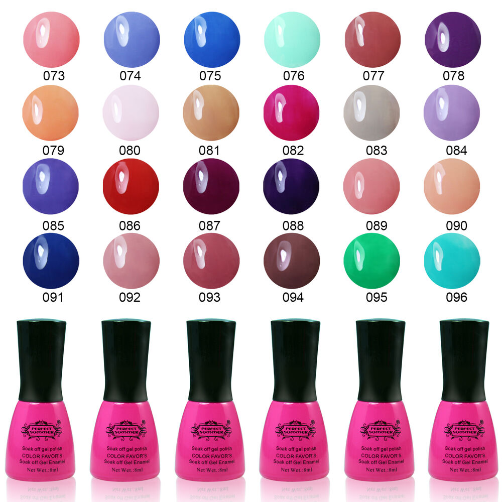 Nail Colors: Gel Nail Polish Soak Off Solid Pure Color Nail Art Perfect
