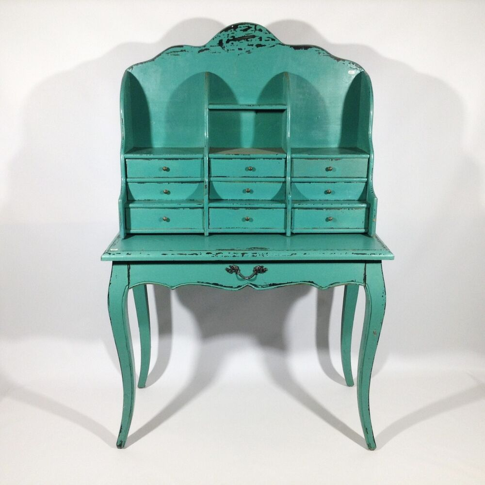 sekret r shabby chic rokoko antiker schreibtisch schminktisch barock vintage art ebay. Black Bedroom Furniture Sets. Home Design Ideas