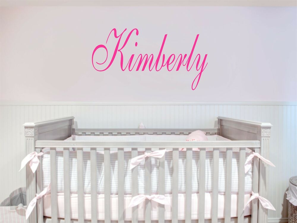 Custom Name Removable Art Vinyl Wall Decal Sticker Decor