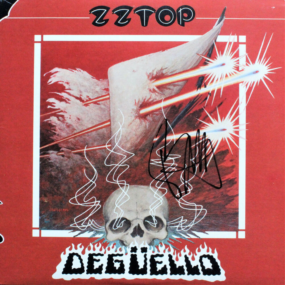 Zz Top Signed Deguello Vinyl Record By Billy Gibbons Ebay