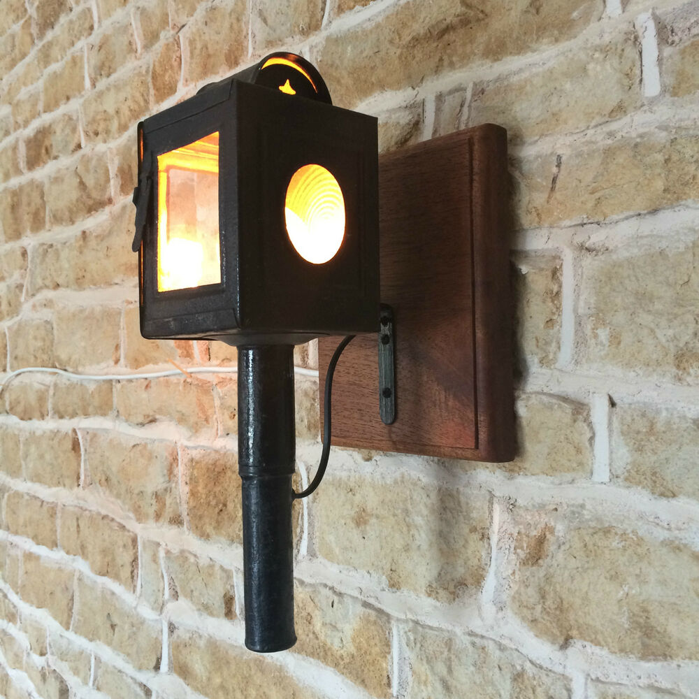 Vintage Reclaimed Wall Lights : VINTAGE RETRO ANTIQUE SCONCE WALL LIGHT FRENCH COACH LANTERN CARRIAGE eBay