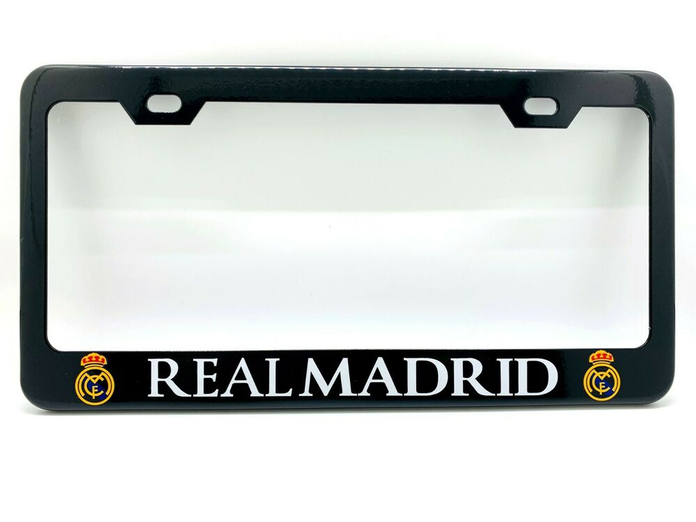 Quot Real Madrid Quot Black License Plate Frame Custom Made Of
