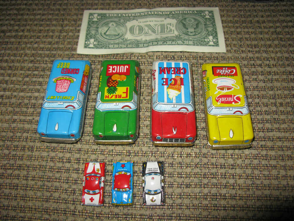 Vintage Japan Tin Toys : Vintage lot of japanese tin toy cars ebay