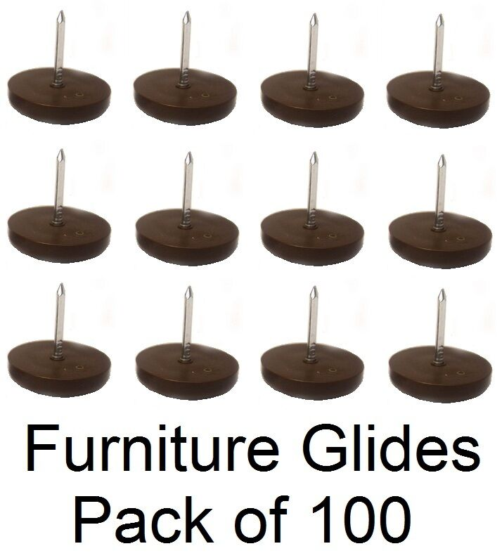3 4 Quot Furniture Chair Nail Feet Glides Protect Floor Brown