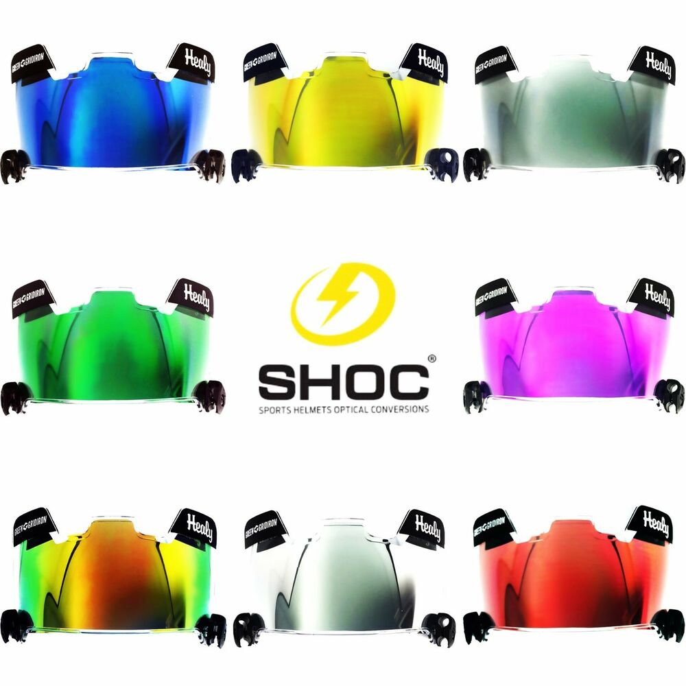 SHOC INSERT for Football or Lacrosse Helmet Visor - Under ... - photo#28