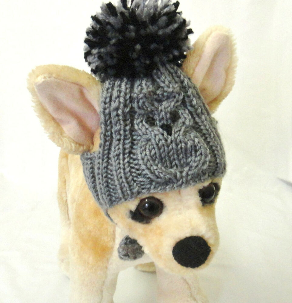 Knitting Pattern For Dog Onesie : Pet Clothes Apparel Crochet Outfit Hand-Knit Dog Hat for Small Dog eBay