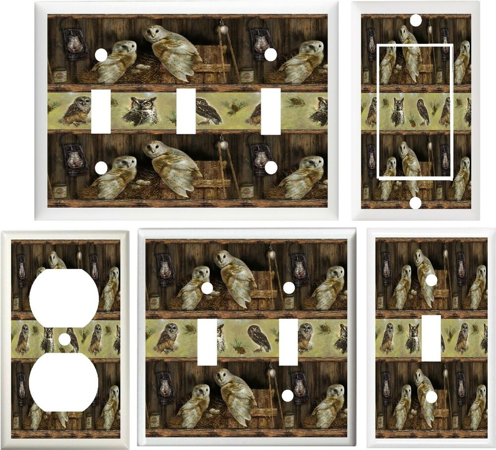 Http Www Ebay Com Itm Adorable Barn Owls Rustic Home Decor Light Switch Plate Cover Or Outlet V759 161495748907