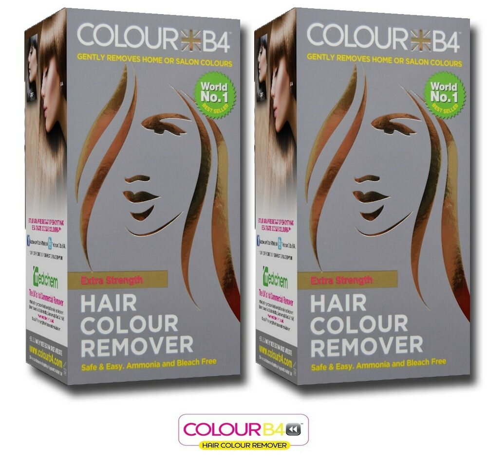 2 X Colour B4 Hair Dye Colour Remover Extra Strength NO