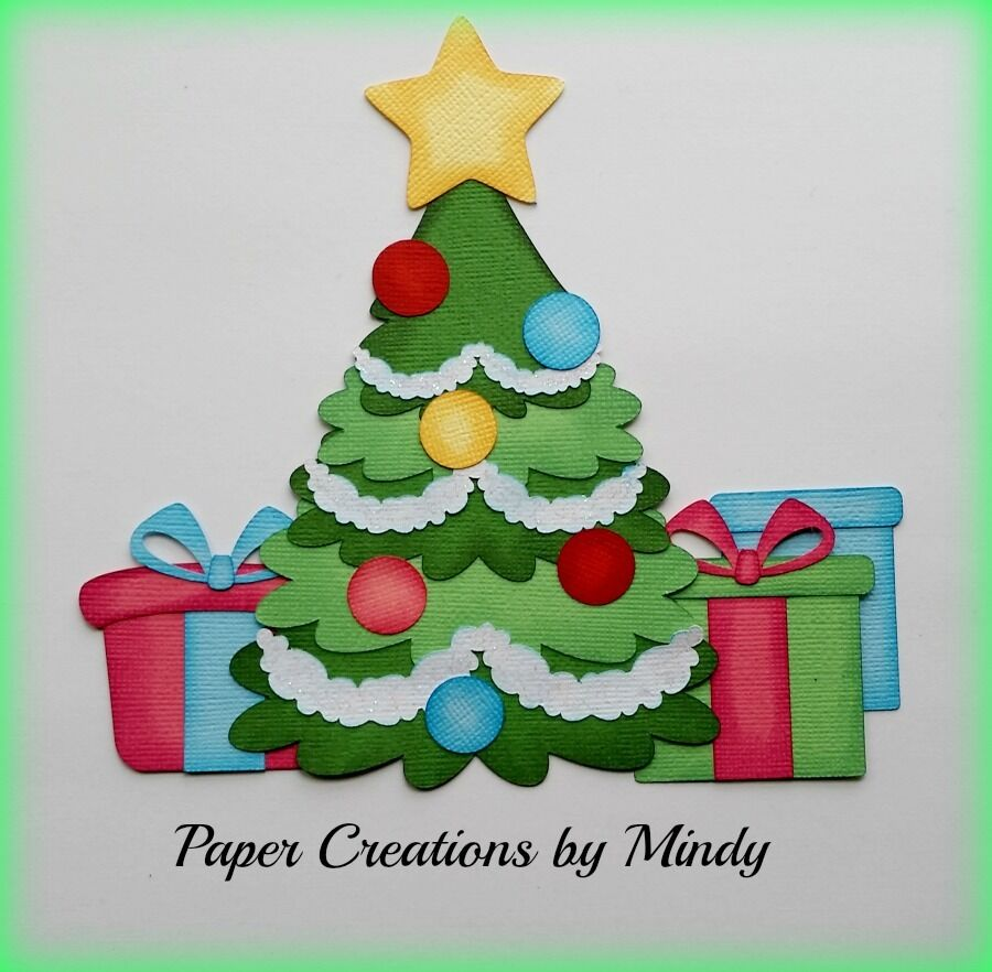 Paper Pieced Christmas Tree Pattern: Craftecafe Mindy Christmas Tree Presents Premade Paper