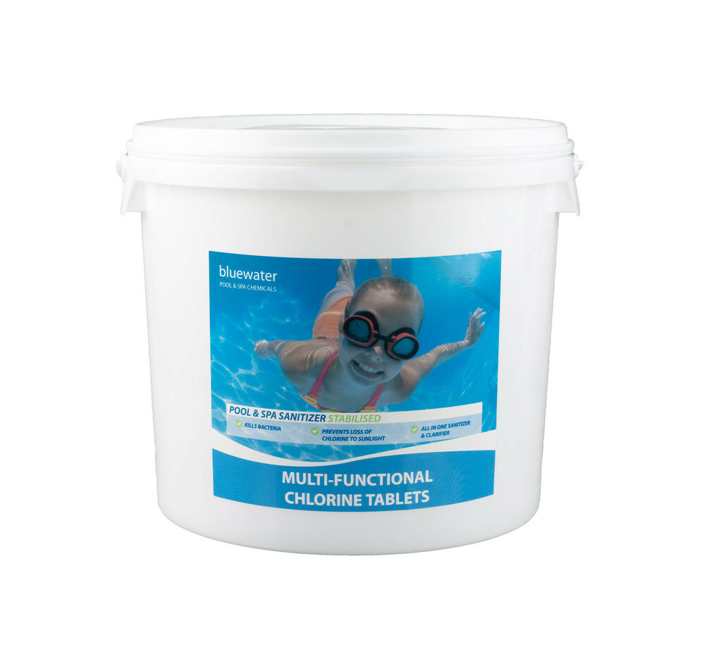 Multifunctional chlorine tablets 5kg for swimming pools large 200g tablets ebay for Chlorination of swimming pools