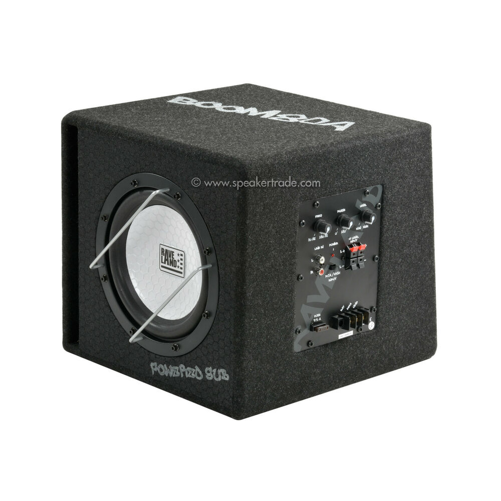 raveland boom 80a mkii auto aktiv subwoofer car hifi ebay. Black Bedroom Furniture Sets. Home Design Ideas