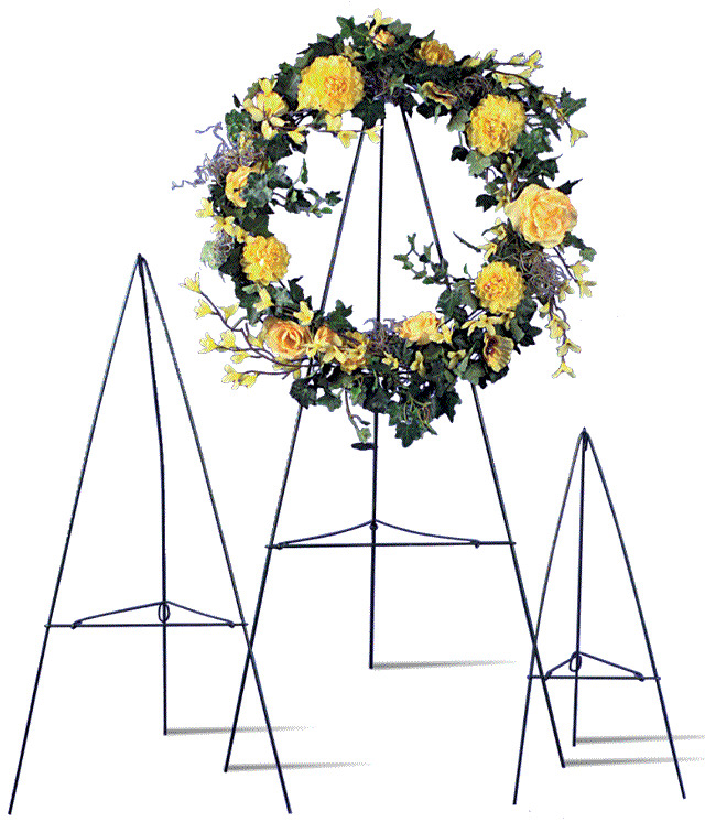Green Wire Easel stand cemetary wreath funeral Display ...